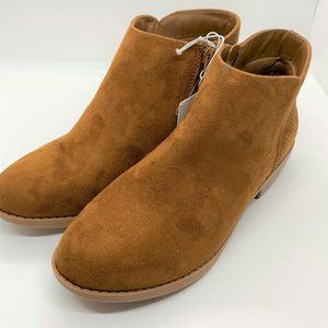 Cat & Jack girls ankle boots-brown size 5